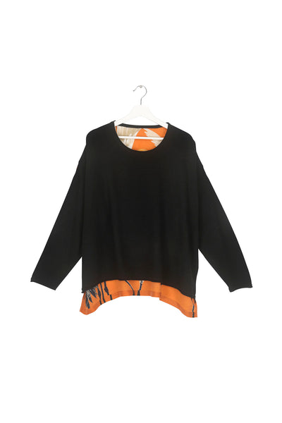 Stork Black Oversized Jumper