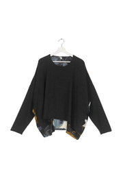 Pansy Charcoal Oversized Jumper
