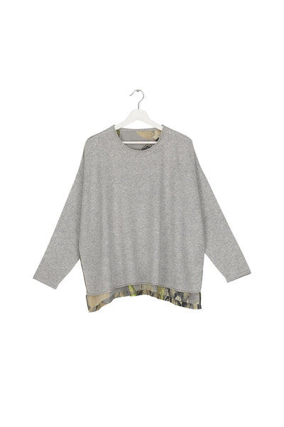 Iris Grey Oversized Jumper