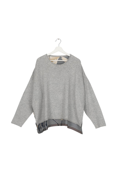 Stork Slate Grey Oversized Jumper
