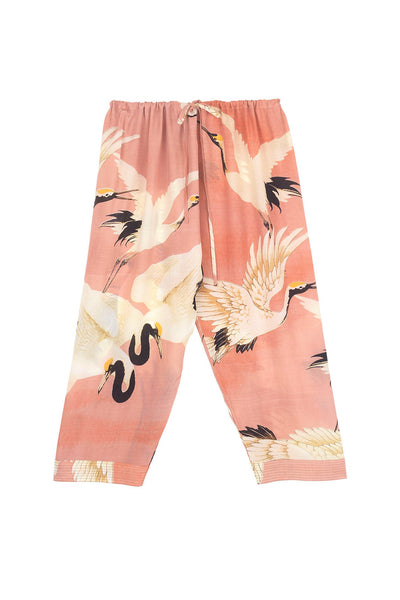 Stork Plaster Pink Cropped Lounge Pants