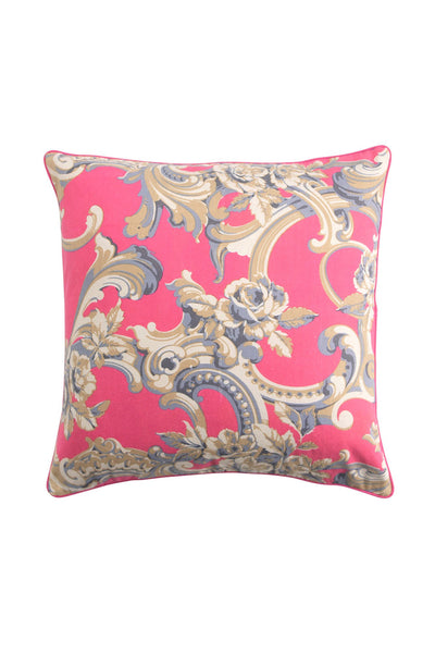 Plaster Rose Pink Cotton Square Cushion