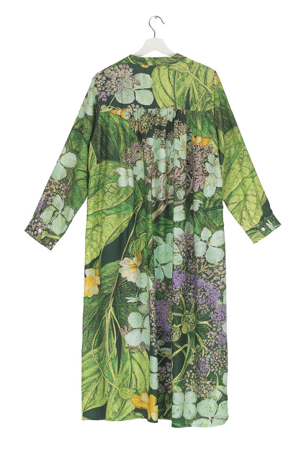 Marianne North Hydrangea Lime Green Duster Coat