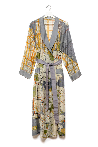 New York City Grey Map Gown