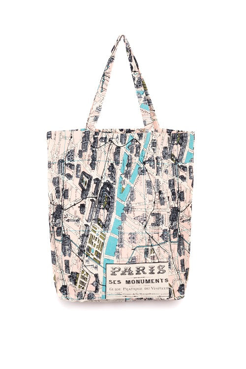 Paris Map Bag