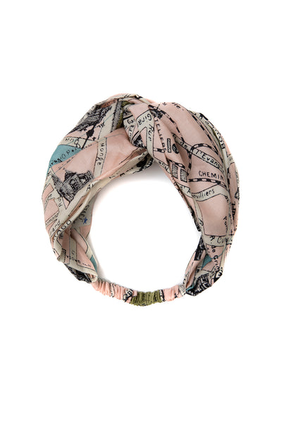 Paris Map Headband
