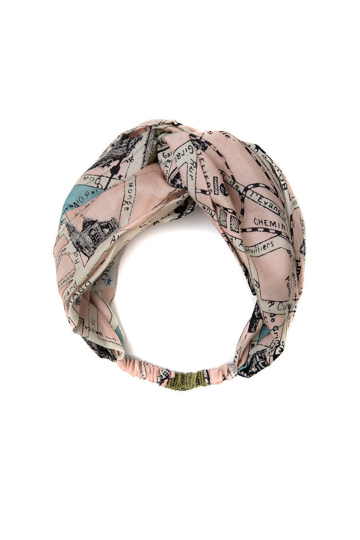 One Hundred Stars Paris Map Headband