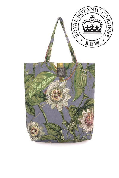 One Hundred Stars KEW Passion Flower Grey Bag