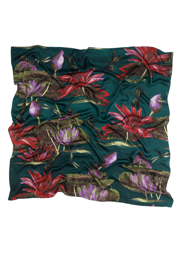 Marianne North Indian Lily Silk Scarf
