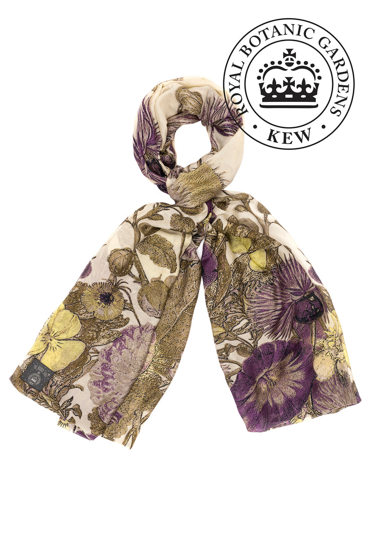 One Hundred Stars KEW Thistle Purple Scarf