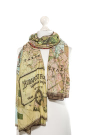 Budapest Map Scarf