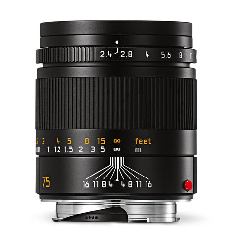 Leica Summarit-M 75mm f/2.4 Black Anodized Finish