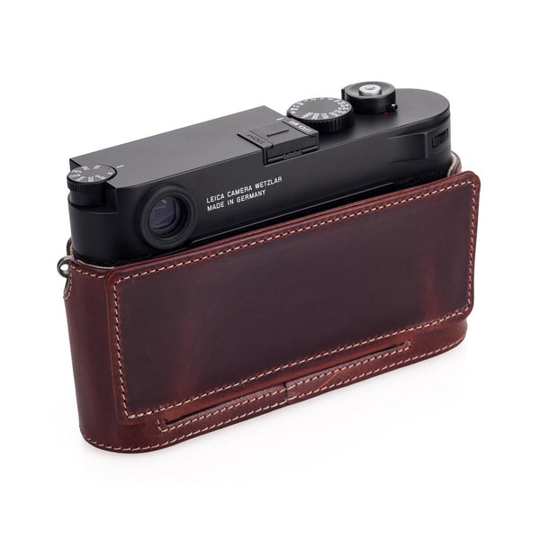 LEICA M10  Leather Camera Protector, Vintage Brown - 24 021
