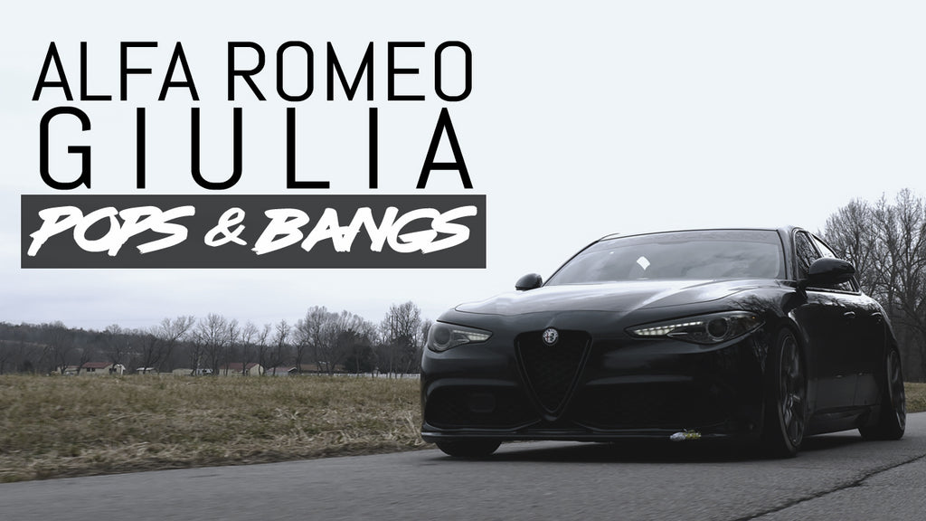 ALFA ROMEO GIULIA - POPS & BANGS : Sessions Vlog