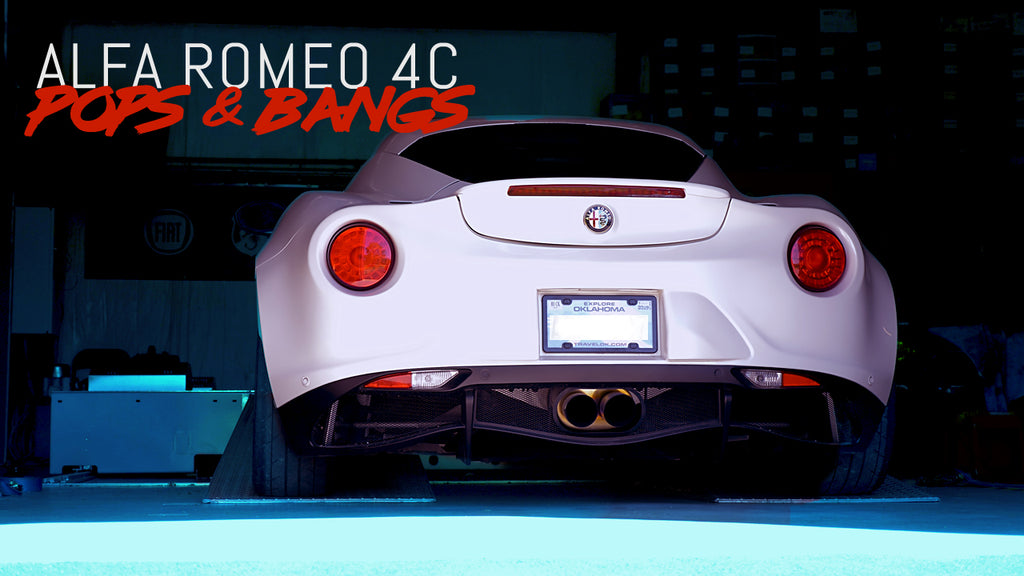 ALFA ROMEO 4C | POPS & BANGS | Sessions Vlog by Eurocompulsion