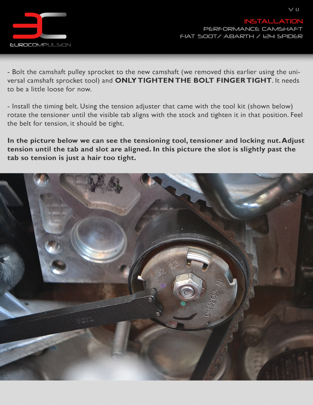 Performance Camshaft Install Fpt 14l Multiair Turbo Engine Fiat Timing Belt Please Read The Instructions Before Proceeding Tool Kits Come With Additional On Where To Locate These Items And How