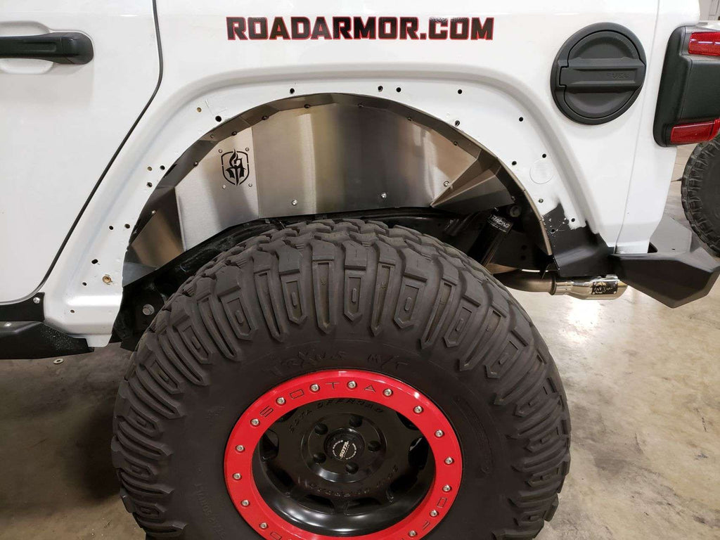 ROAD ARMOR - Stealth Rear Fender Liner - Raw Stainless Steel - JEEP WRANGLER JL