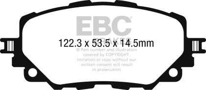 EBC YELLOW REAR BRAKE PADS (FIAT 124 SPIDER/ABARTH)
