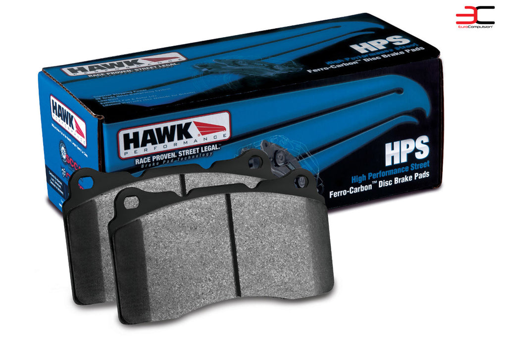 HAWK HIGH PERFORMANCE STREET (HPS) FRONT BRAKE PAD SET (FIAT 124 ABARTH/BREMBO) - EUROCOMPULSION