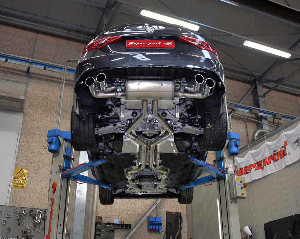 "SUPERSPRINT ""STREET"" CAT-BACK EXHAUST SYSTEM (ALFA ROMEO GIULIA QUADRIFOGLIO 2.9L)"