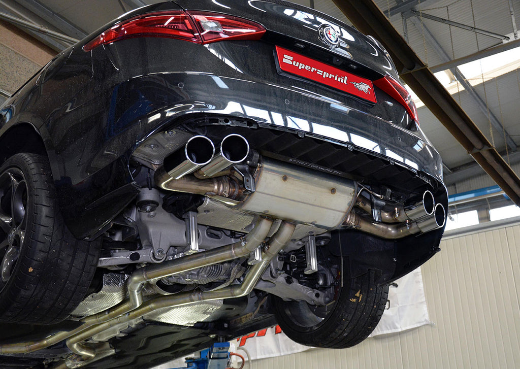"SUPERSPRINT ""RACE"" FULL EXHAUST SYSTEM (ALFA ROMEO GIULIA QUADRIFOGLIO 2.9L)"