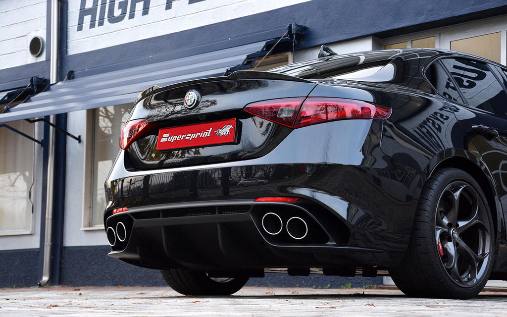 "SUPERSPRINT ""RACE"" CAT-BACK EXHAUST SYSTEM (ALFA ROMEO GIULIA QUADRIFOGLIO 2.9L)"
