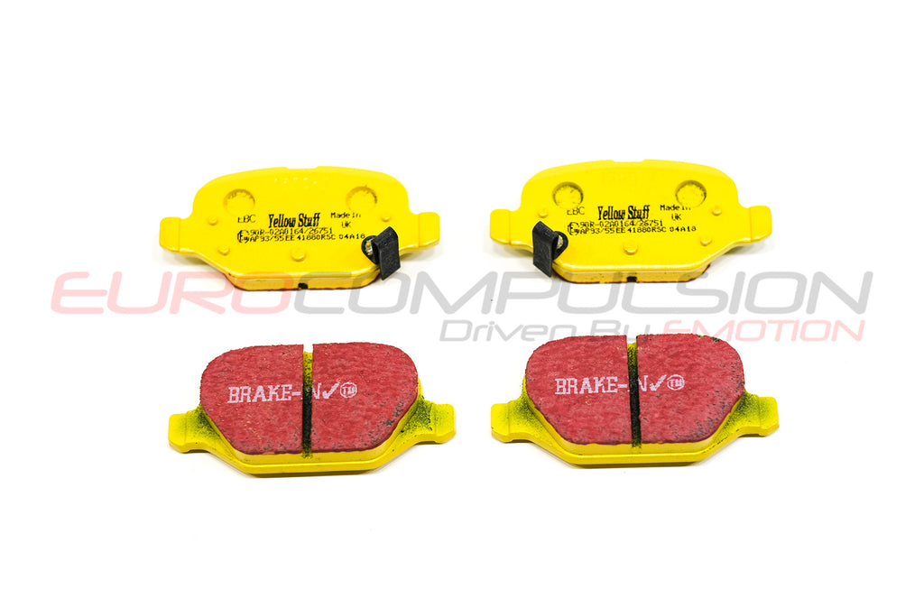 EBC YELLOW REAR BRAKE PADS (ABARTH/500T) - EUROCOMPULSION
