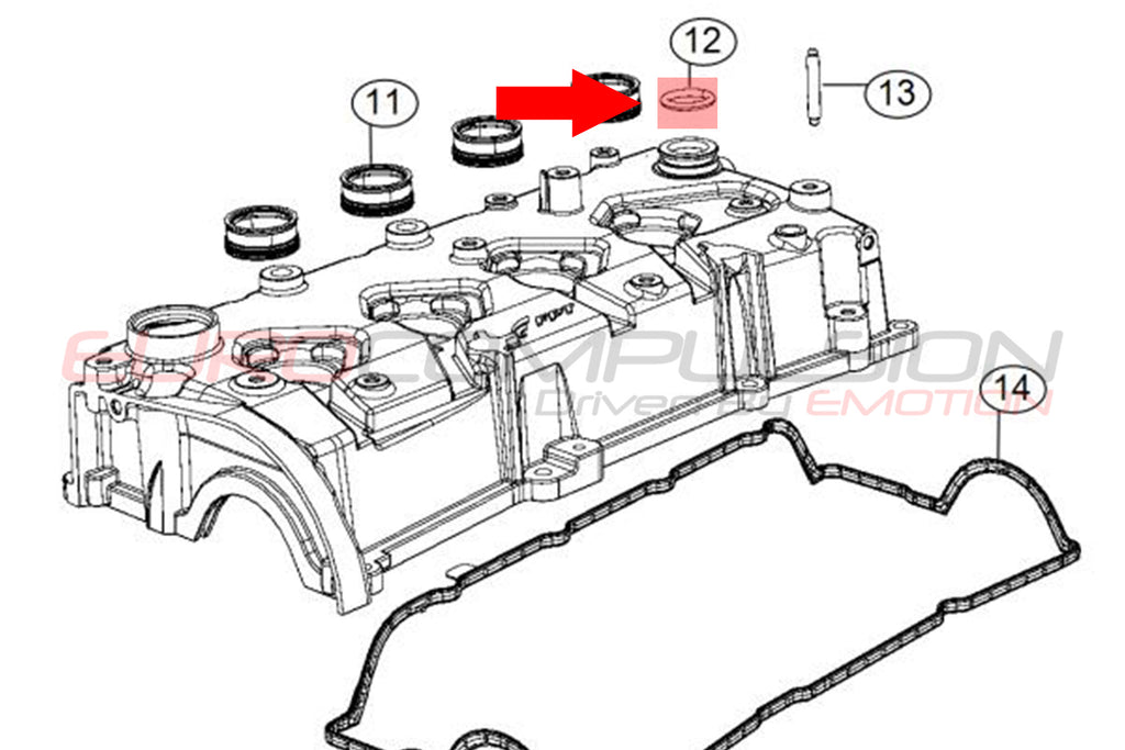 GENUINE FIAT AIR OIL SEPARATOR/PCV VALVE SEAL (FIAT 500