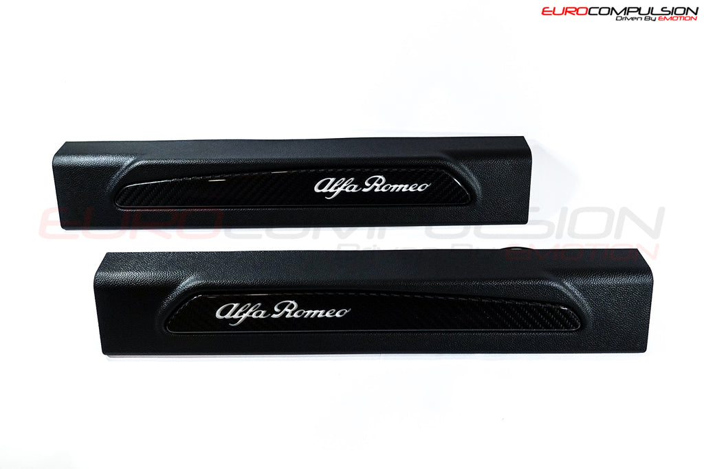 GENUINE ALFA ROMEO CARBON FIBER LIGHTED DOOR SILL (ALFA ROMEO GIULIA) - EUROCOMPULSION