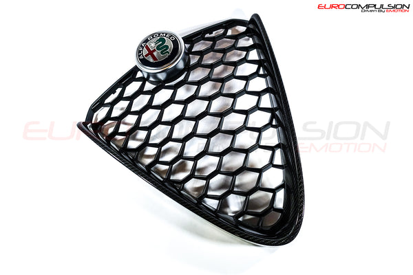 GENUINE ALFA ROMEO CARBON FIBER CENTER GRILL (ALFA ROMEO