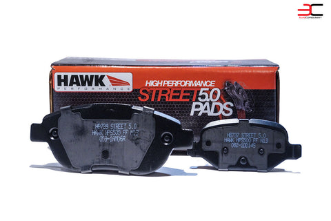 HAWK PERFORMANCE STREET 5.0 ABARTH/500T BRAKE PADS