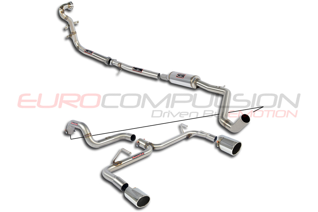 SUPERSPRINT TRACK PLUS+ PERFORMANCE PACK EXHAUST SYSTEM (FIAT 500 ABARTH)