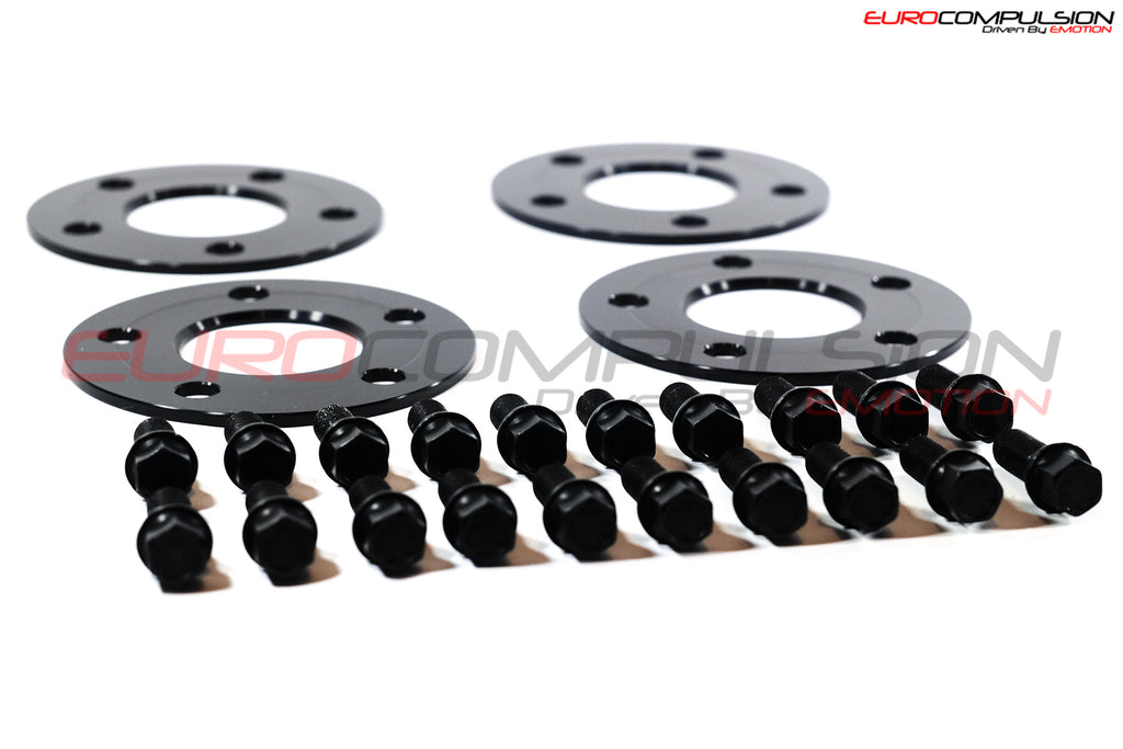 OTIS LA BLACK WHEEL SPACER KIT 5MM/5MM (ALFA ROMEO GIULIA 2.9L) - EUROCOMPULSION