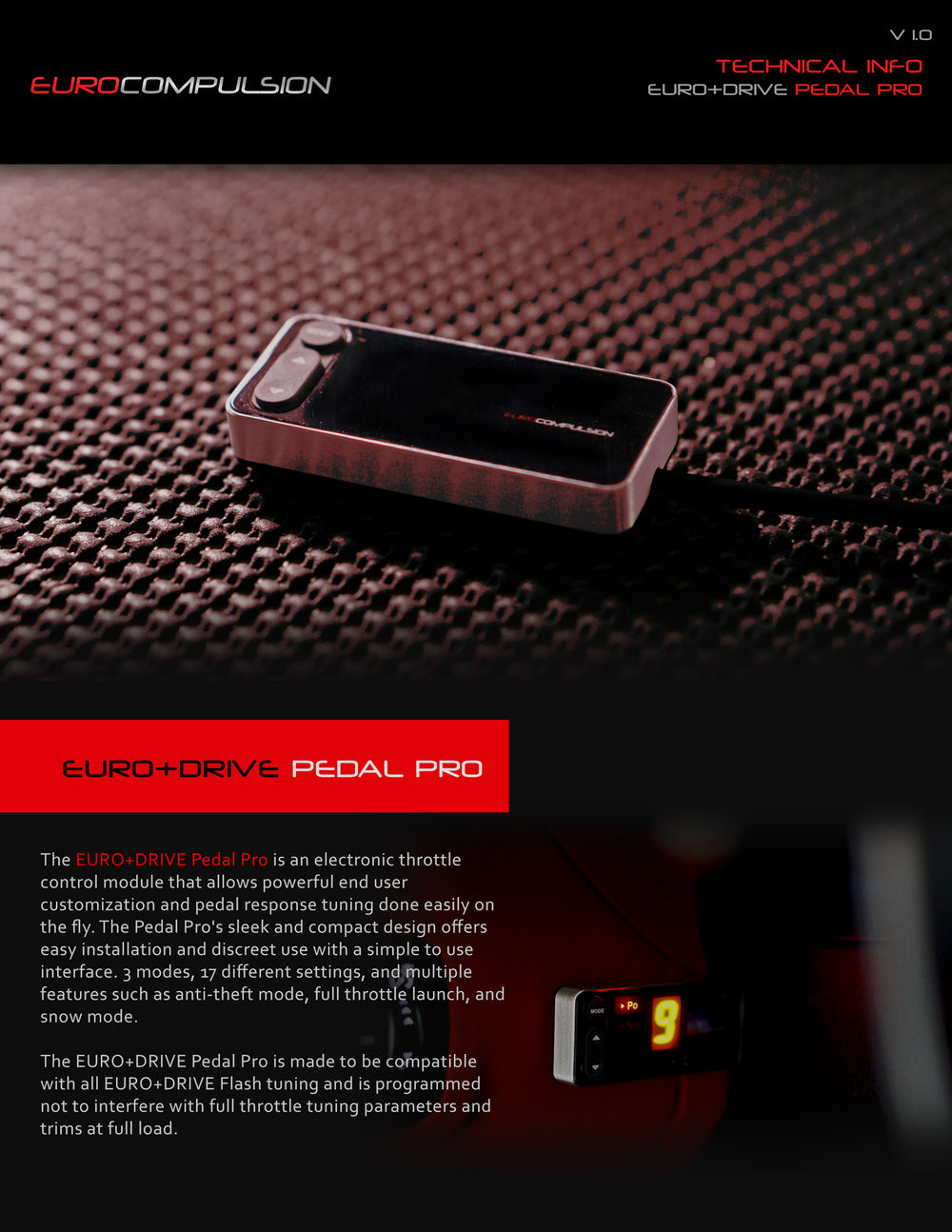 EURO+DRIVE® PEDAL PRO (ALFA ROMEO APPLICATIONS)