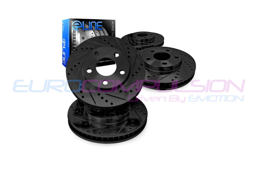 R1 CONCEPTS XDRILLED/SLOTTED BRAKE ROTOR SETS