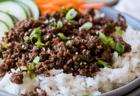 Korean Beef Over Soaked Basmati Rice (Delivered Fresh December 9th)