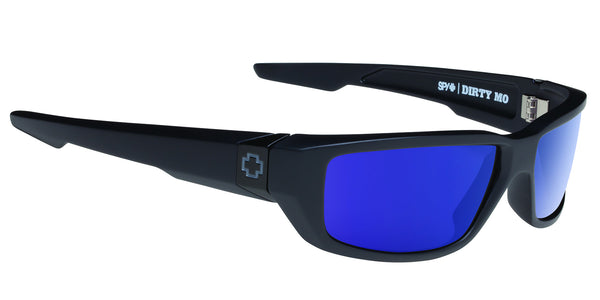 SPY DIRTY MO MATTE BLACK HAPPY BRONZE POLARIZED BLUE