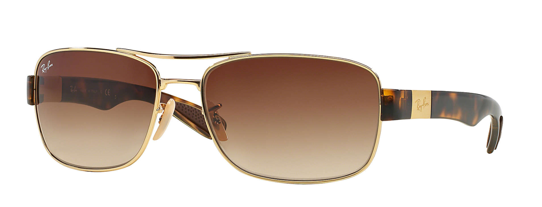 Gold Tortoise, Brown Gradient Lenses, 61mm