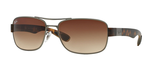 Gunmetal Tortoise, Brown Gradient Lenses, 64mm