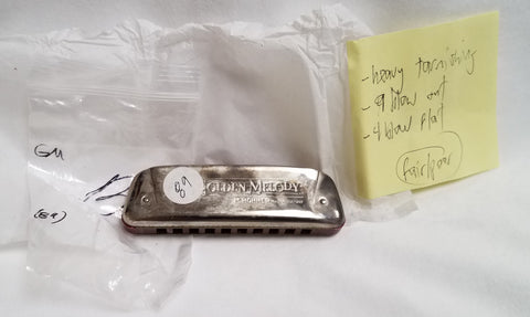 Sonny Terry Estate Harmonica - Golden Melody Item #89  Key of B