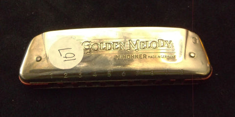 Sonny Terry Estate Harmonica - Hohner Golden Melody  # 107  Key of G