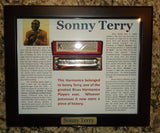 Sonny Terry Estate Harmonica - Hohner Golden Melody - Gold Covers  # 68  Key o fC