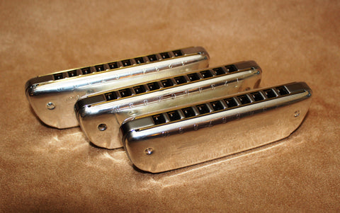 Ready-to-Go Plated Hohner Golden Melody - Chrome Plated Comb and Silver Plated Covers