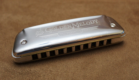 Ready-to-Go Plated Hohner Golden Melody - Silver Plated Brass Comb and Silver Plated Covers - Key of B-flat