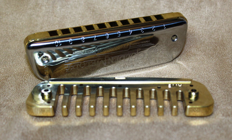 Golden Melody with Brass Comb