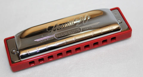 Ready-to-Go Special 20 in G - Hot Red Corian Comb Chrome Plated Covers
