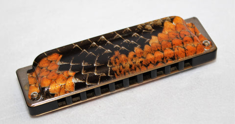 Ready-to-Go Manji in D - Black Paper Phenolic Resin Comb Boa