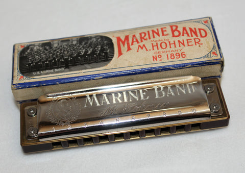 Ready-to-Go Pre-War Marine Band 1896 in A - Natural Paper Resin Comb Stock Covers