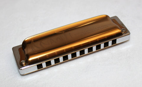 Ready-to-Go Manji in A - Chrome Plated Brass Comb Clear Coat Gold Covers