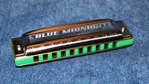 Ready-to-Go MS-Blue Midnight in Bb - Custom Green Corian Comb